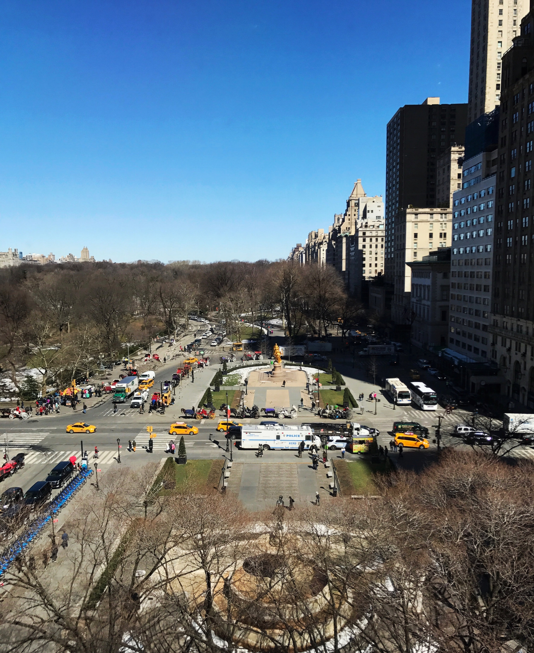 The view over Grand Army Plaza from BG at Bergdorf Goodman.