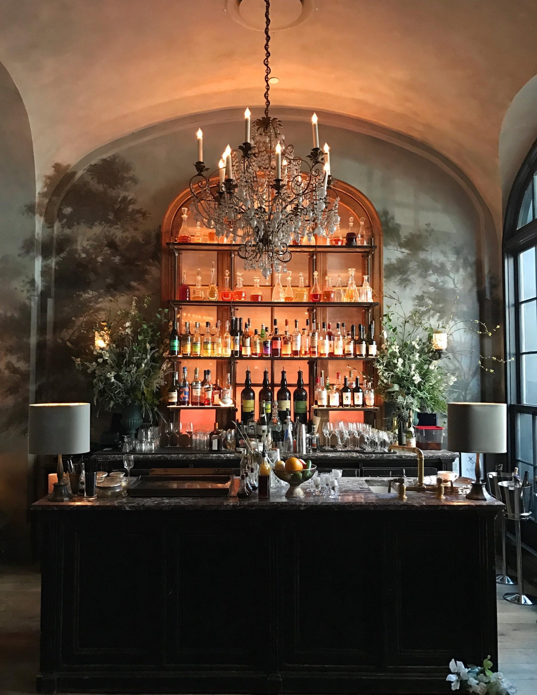 The beauteous bar at Le Coucou.