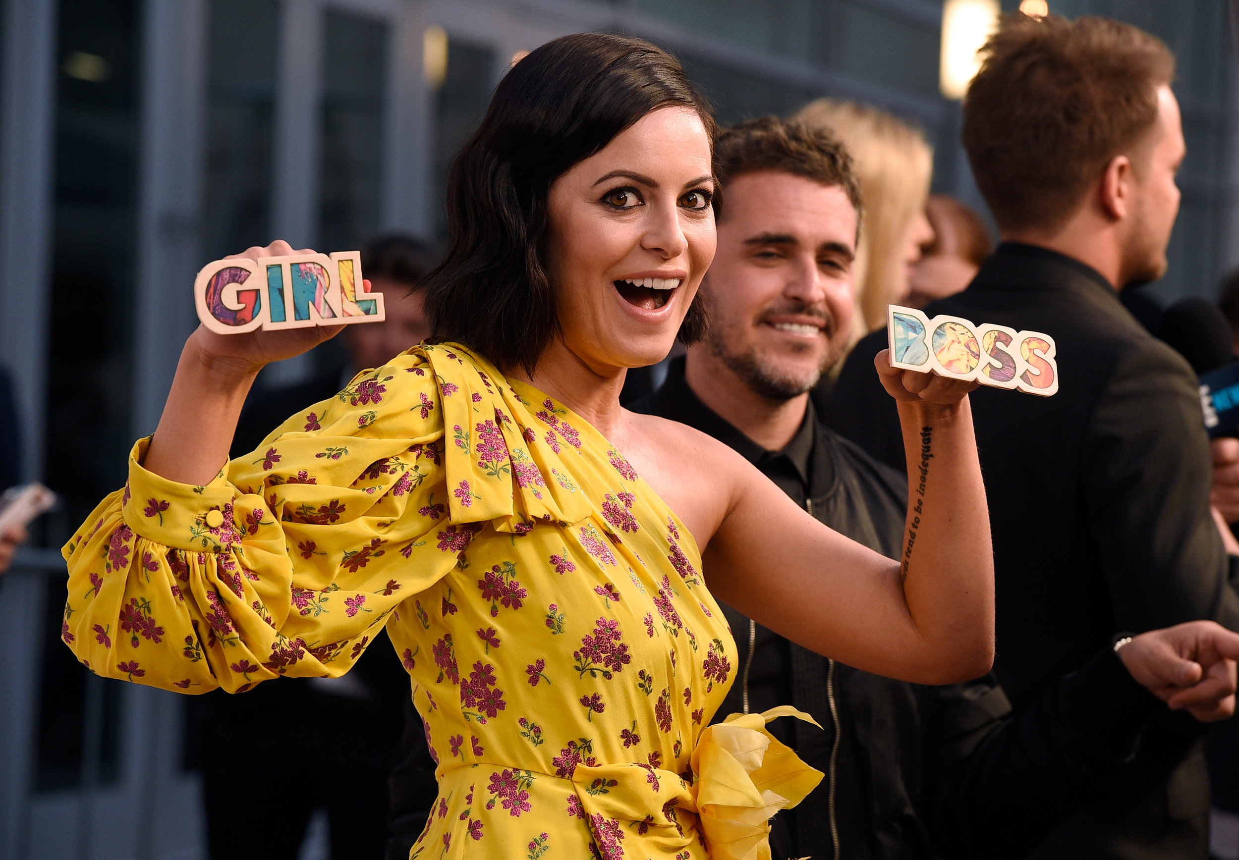 The original #girlboss, Sophia Amoruso, at the  Girlboss  Netflix premiere. Image via Bustle.