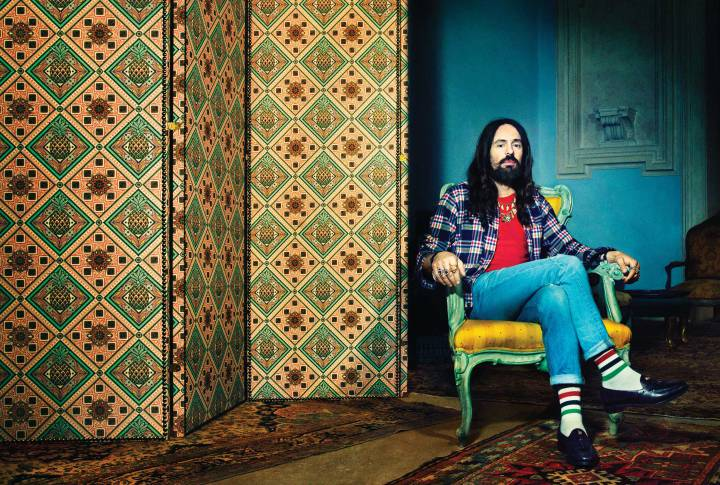 Alessandro Michele shot by Pari Dukovic. Image via  Time .