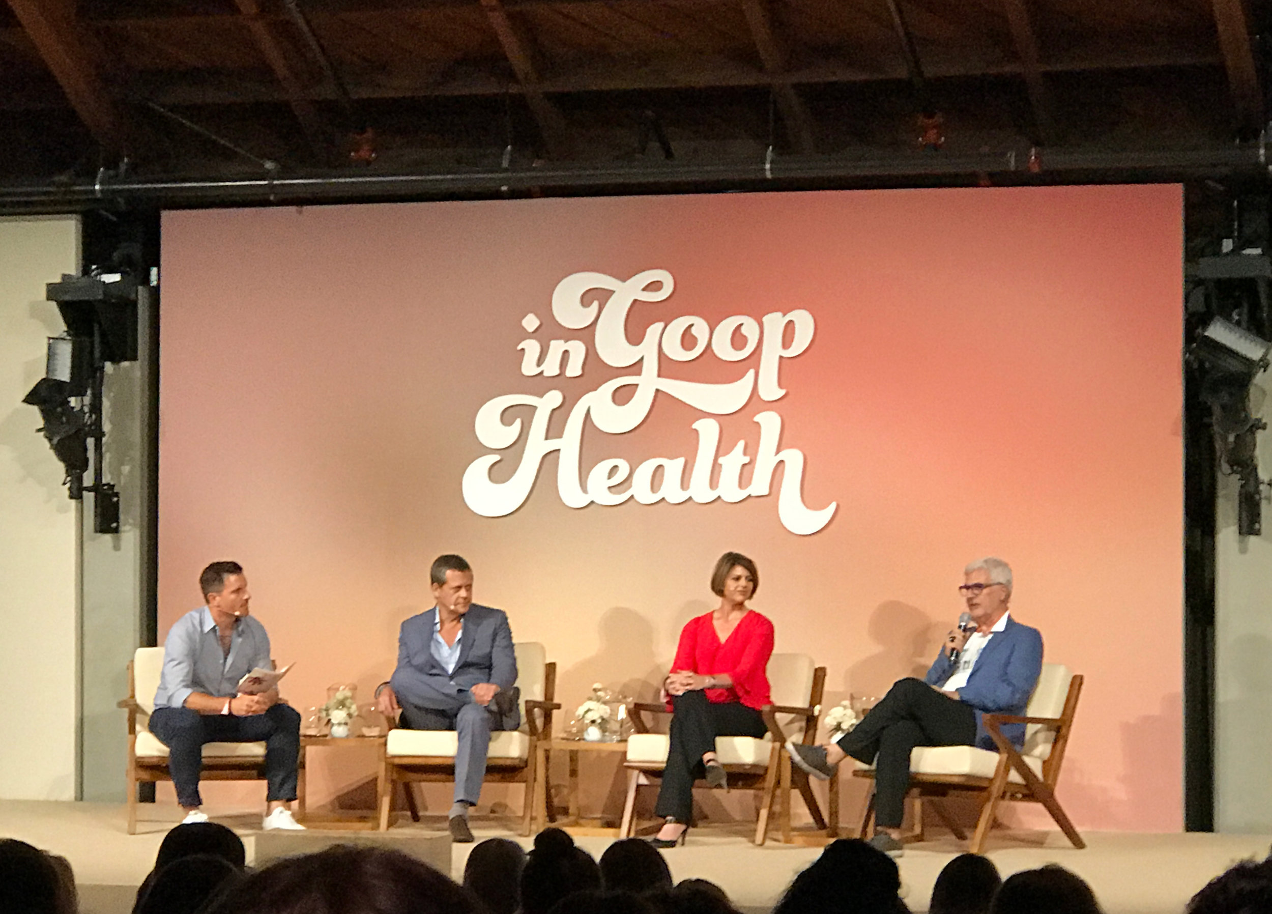 Chef Seamus Mullen,Dr. Alejandro Junger, Dr. Amy Myers, and Dr. Steven Gundry on the  Gut Check  panel.