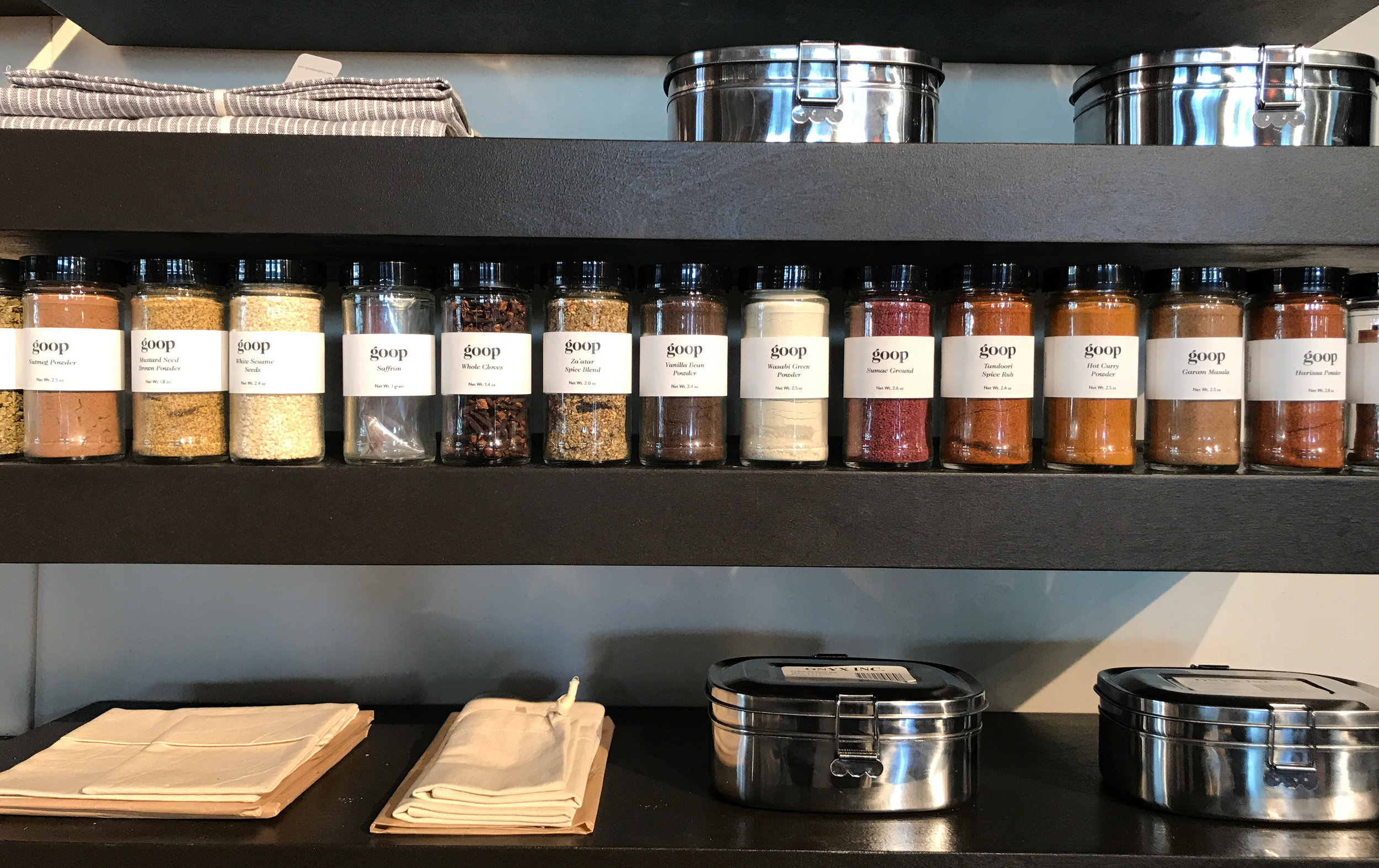 New Goop spices at the Detox Pantry.