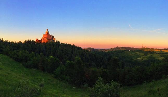 A fairytale;San Luca at sunset.