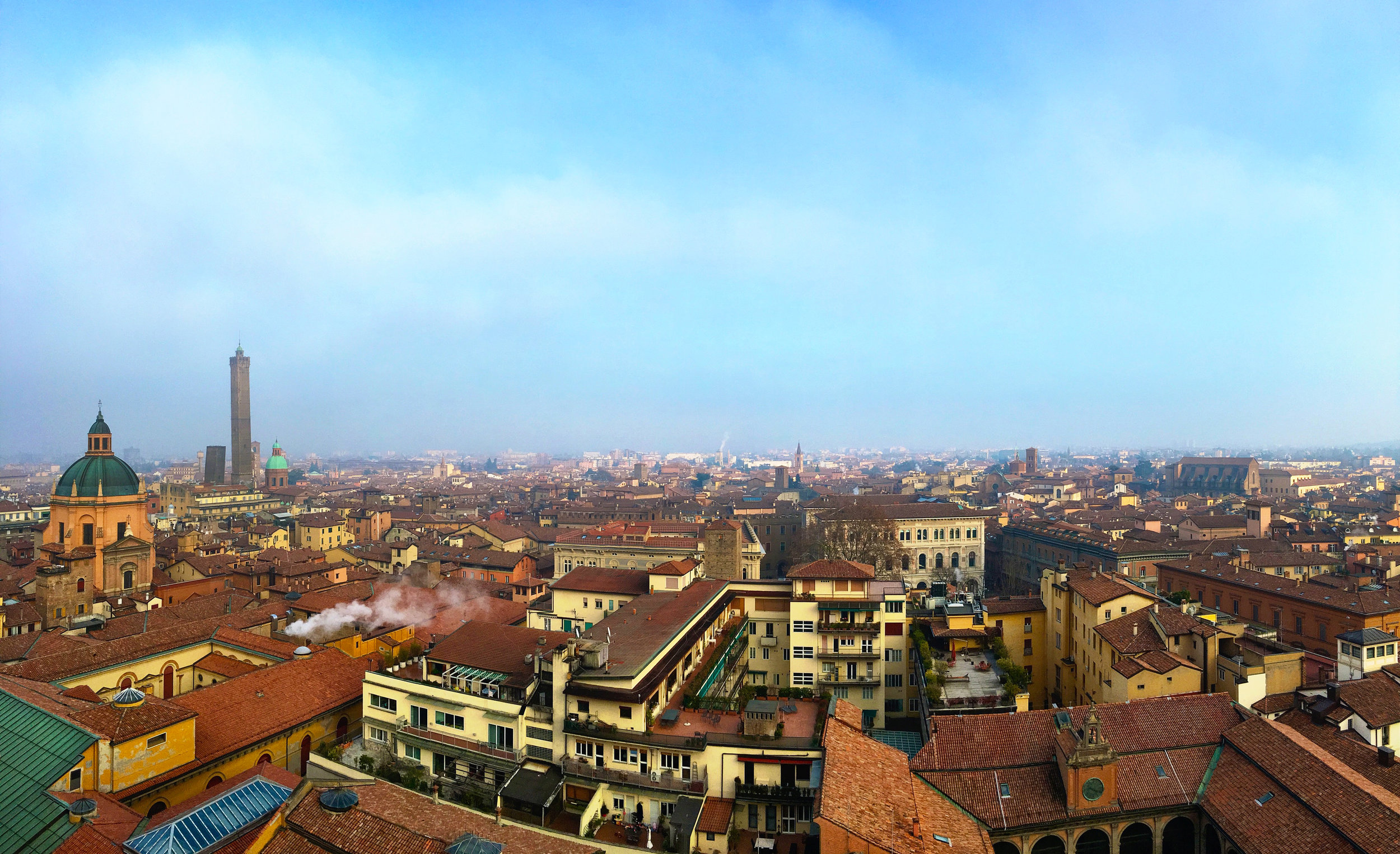 A glorious winter view from the Terrazza San Petronio.