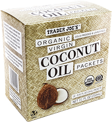Trader Joe's coconut oil packets. Each packet is perfect for two oil pulls!