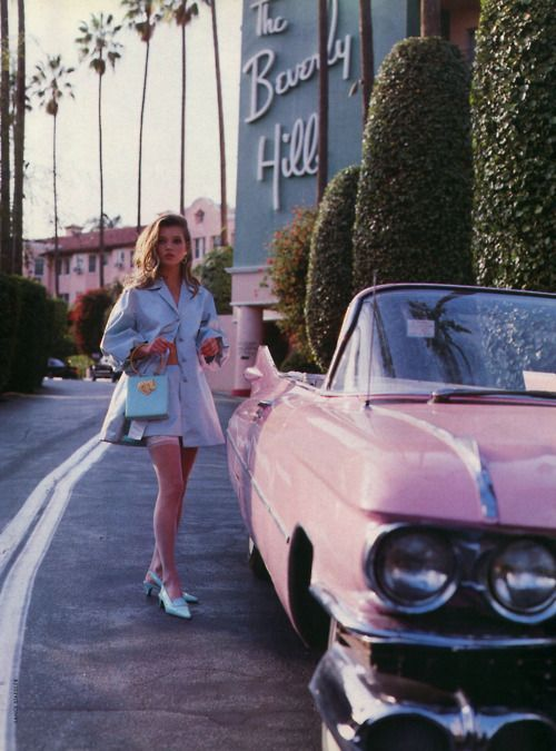 Kate Moss at the Beverly Hills Hotel, circa 1990.