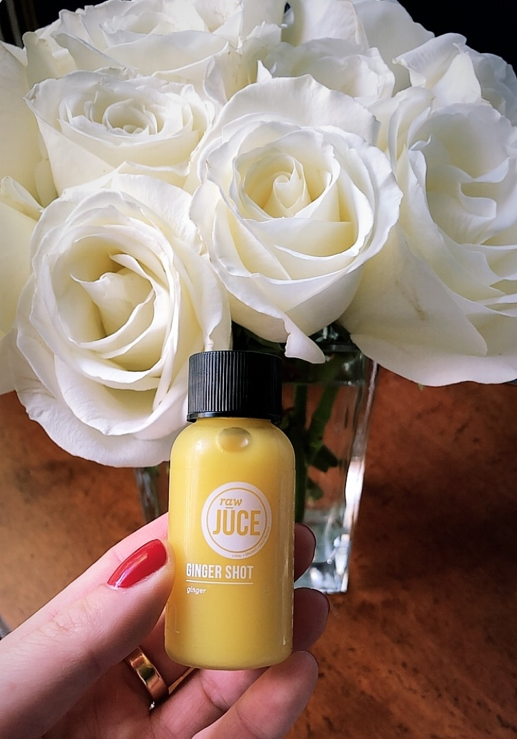 A HOT ginger wellness shot from Raw Juce.