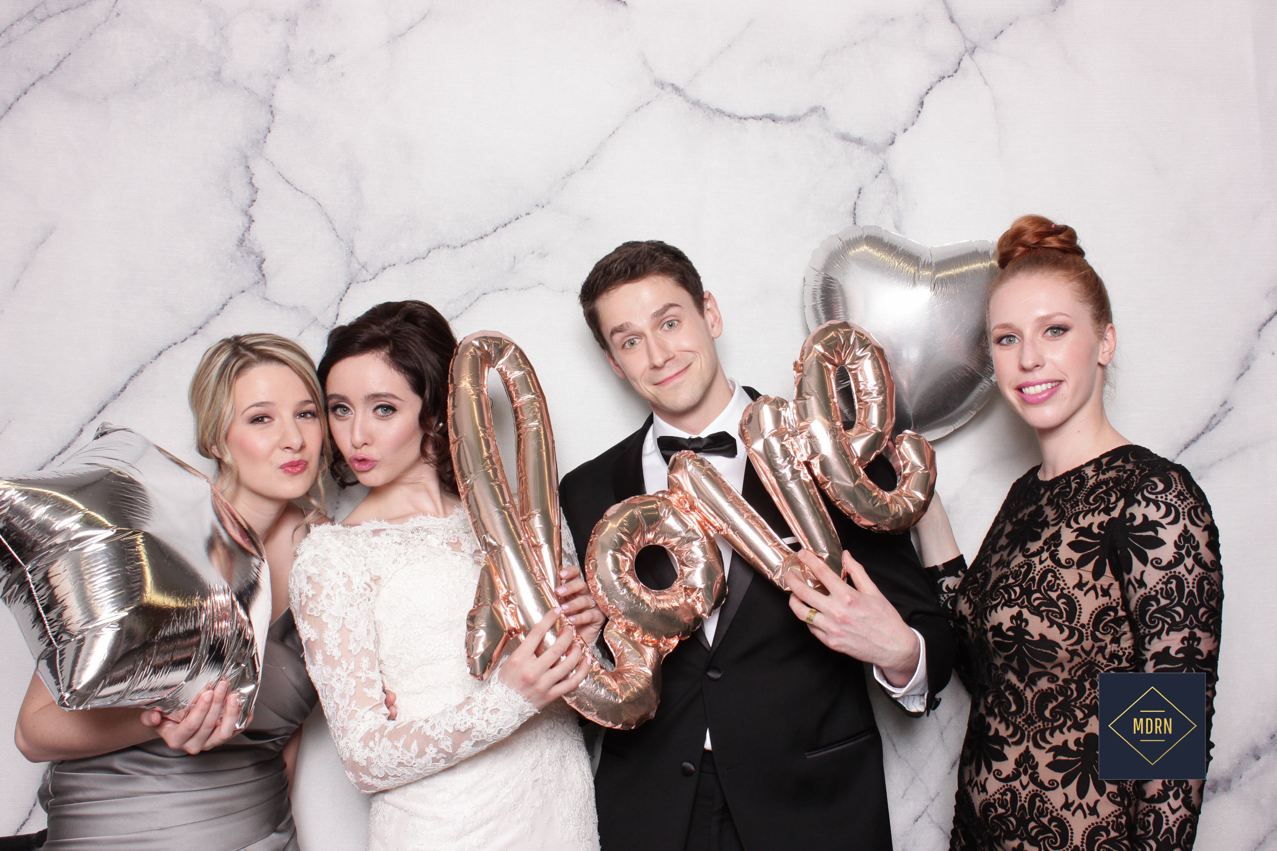 Metallic Balloon Props for a wedding
