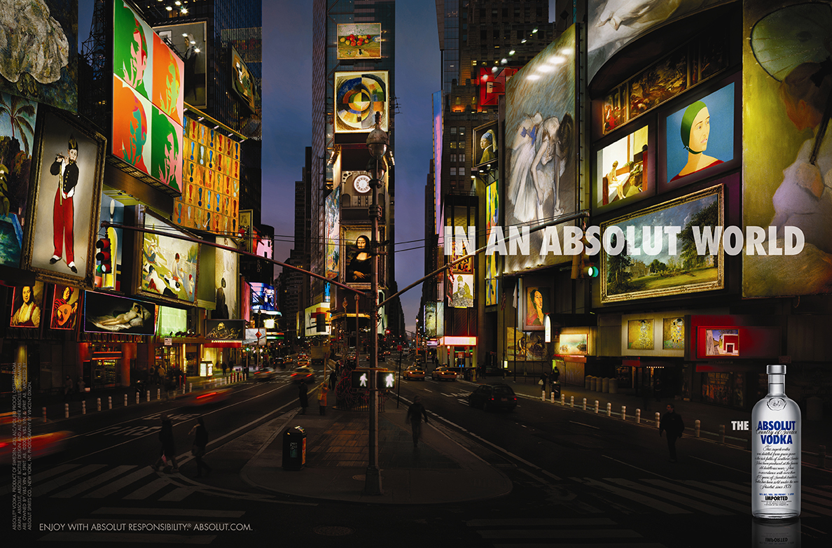 ABSOLUT - I was asked to contribute an image for the absolut campaign that depicted scenes in a