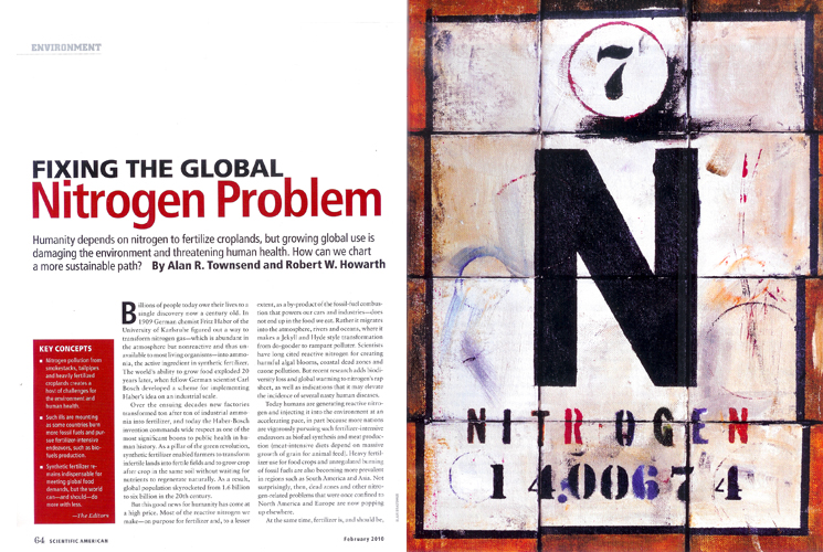 SCIENTIFIC AMERICAN - A special Nitrogen piece was commissioned by Scientific American to illustrate an article concerning the element.