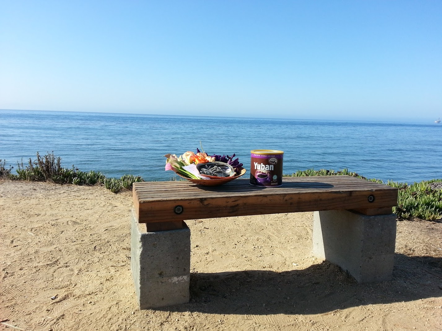 Mama's Favorite Place to Sit and Write - Her ashes are in the coffee can ready to release into our Mama Ocean