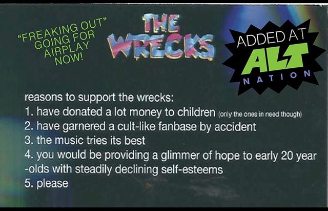 We are FREAKING OUT that @altnation added @wearethewrecks yesterday!  Officially going for adds NOW! #AMPLIFYyourartist