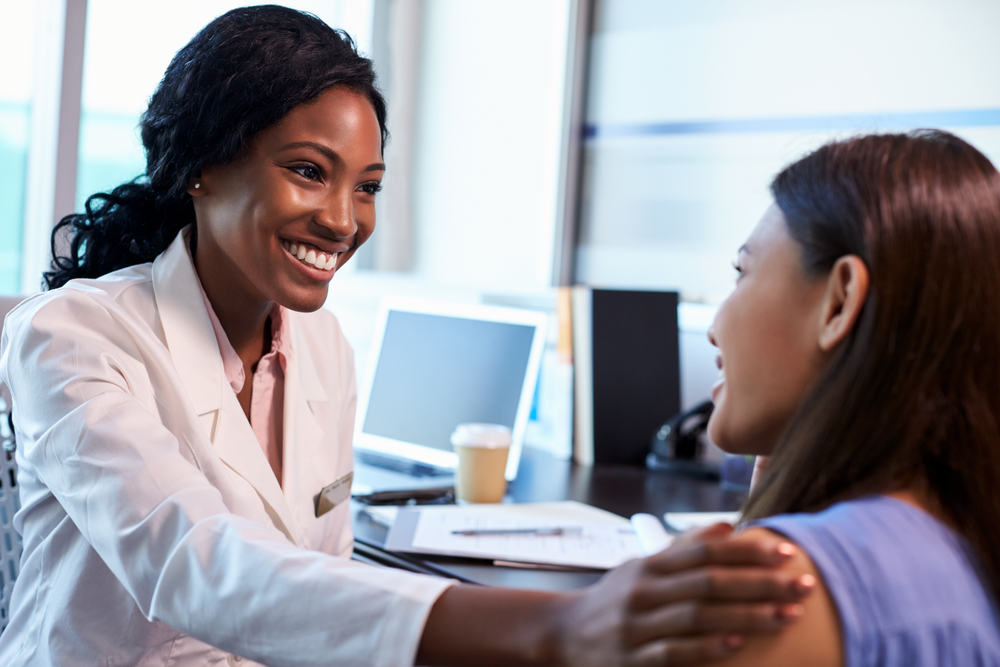 doctor appointment with a female patient in Katy Texas