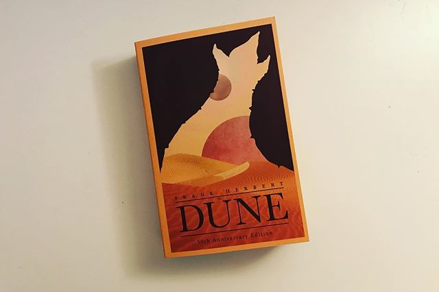 Something I need to do more in 2018 is read more, I haven't read a book in full in well over a year at least. May as well start with a good one! #dune