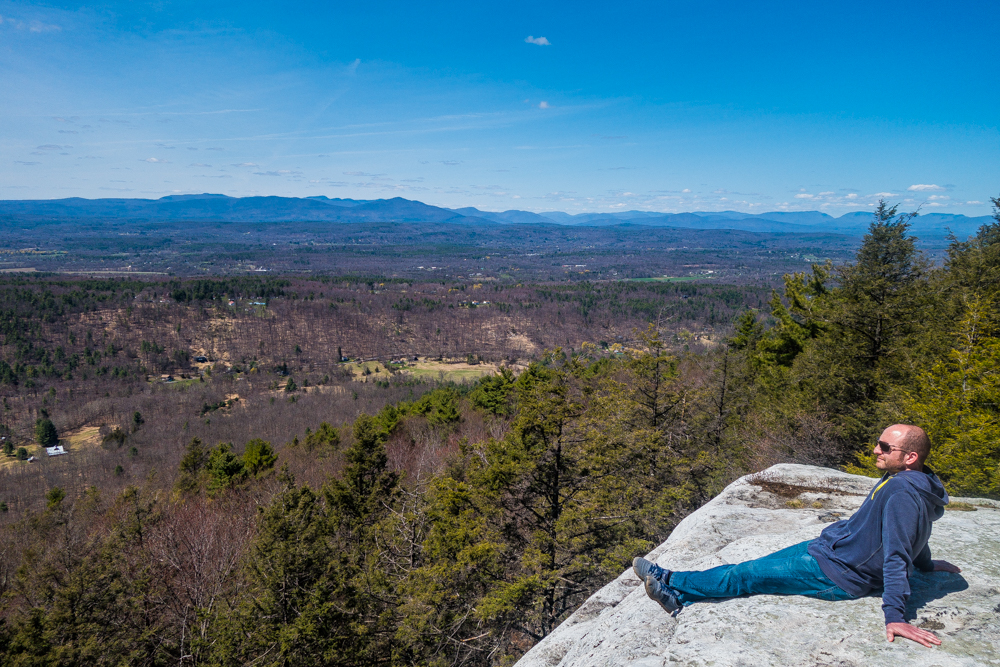 Enjoying the view at Mohonk Preserve