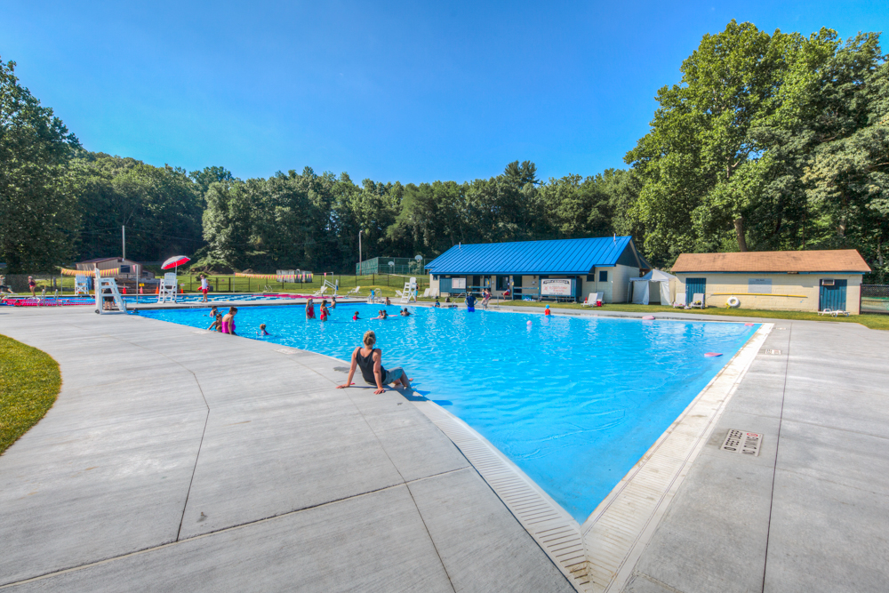 New Rosendale Pool a few weeks after it opened.  Rosendale, New