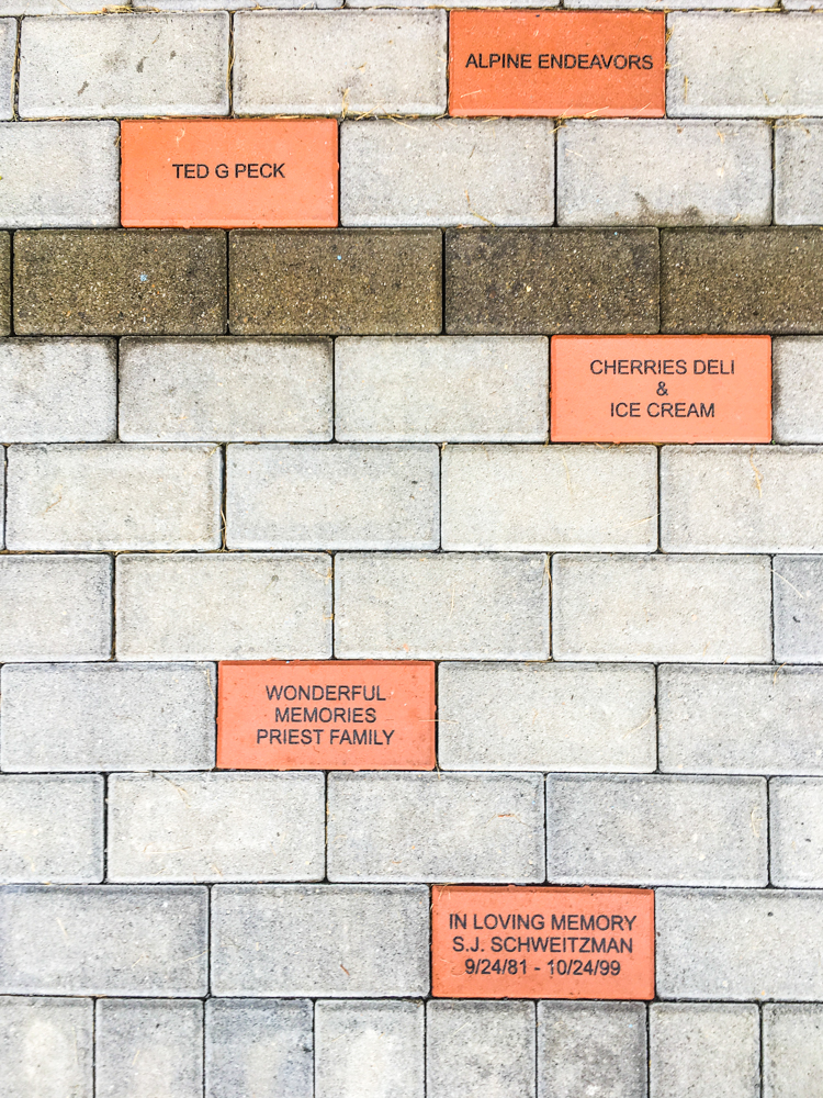 Lots of people sponsored bricks to help the cause