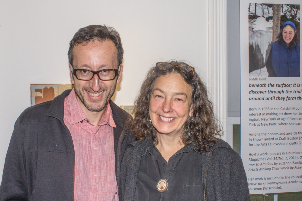 With Judith Hoyts at her solo show at the gallery