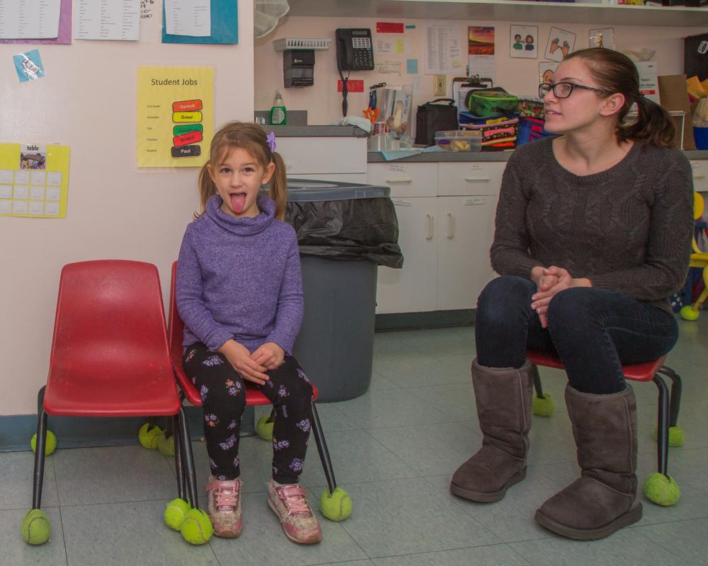 Greer and Stephanie (Classrooom Aide)