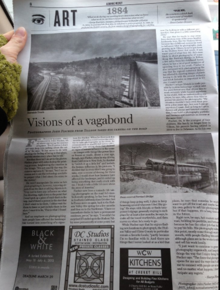 Visions of a Vagabond - Almanac Weekly, March 2013Click image to read