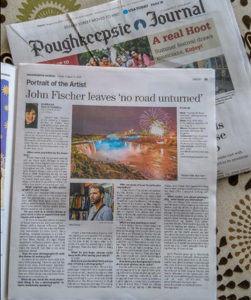 Portrait of the Artist - Poughkeepsie Journal, August 2015Click image to read