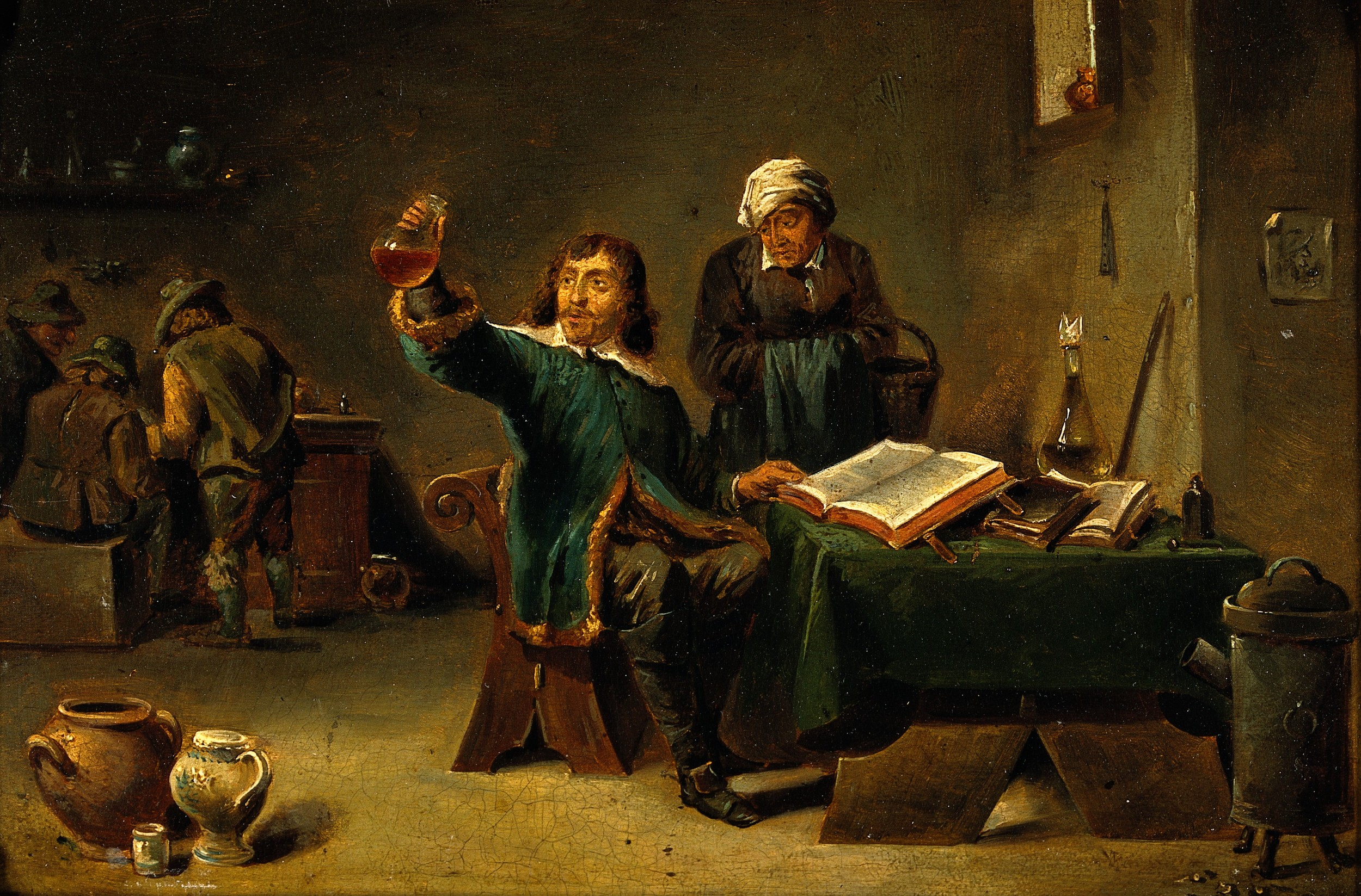 A_medical_practitioner_examining_a_urine_flask._Oil_painting_Wellcome_V0017268 (1).jpg