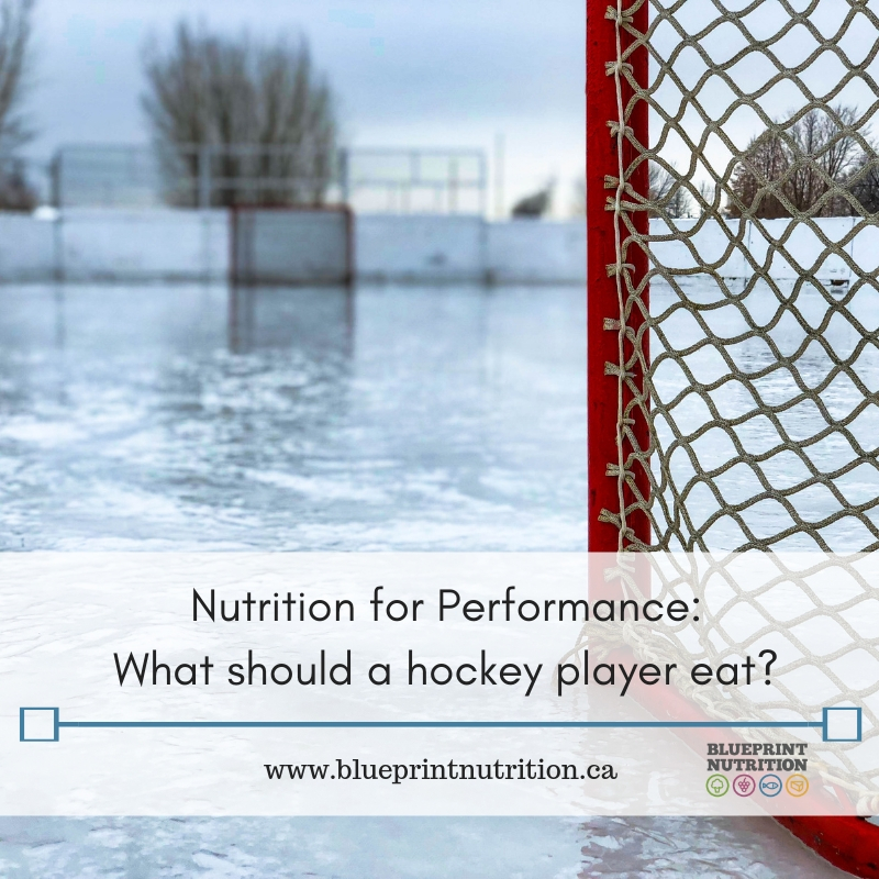 What should a hockey player eat?