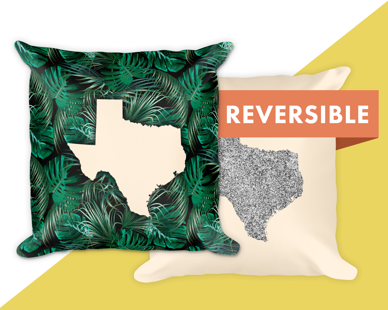 Custom Unique Texas Pillow Botanicals