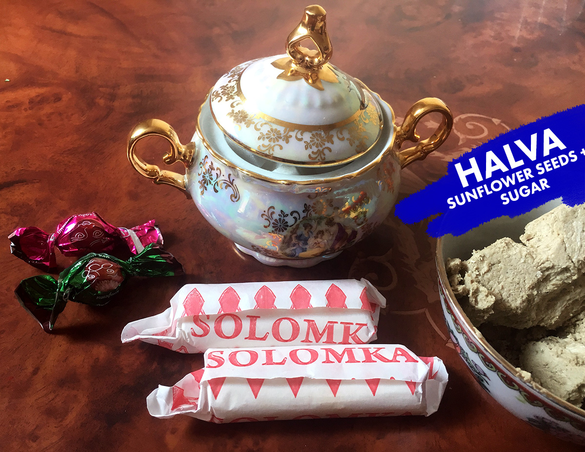 Countless cups of tea a day, and not one cup was without sweets! The Solomka are candies from Soviet Union era, they kind of laughed that I wanted to take a photo of them because they're so plain/common. Also I'm 100% in love with Onar's sister's ornate dishes for everything.