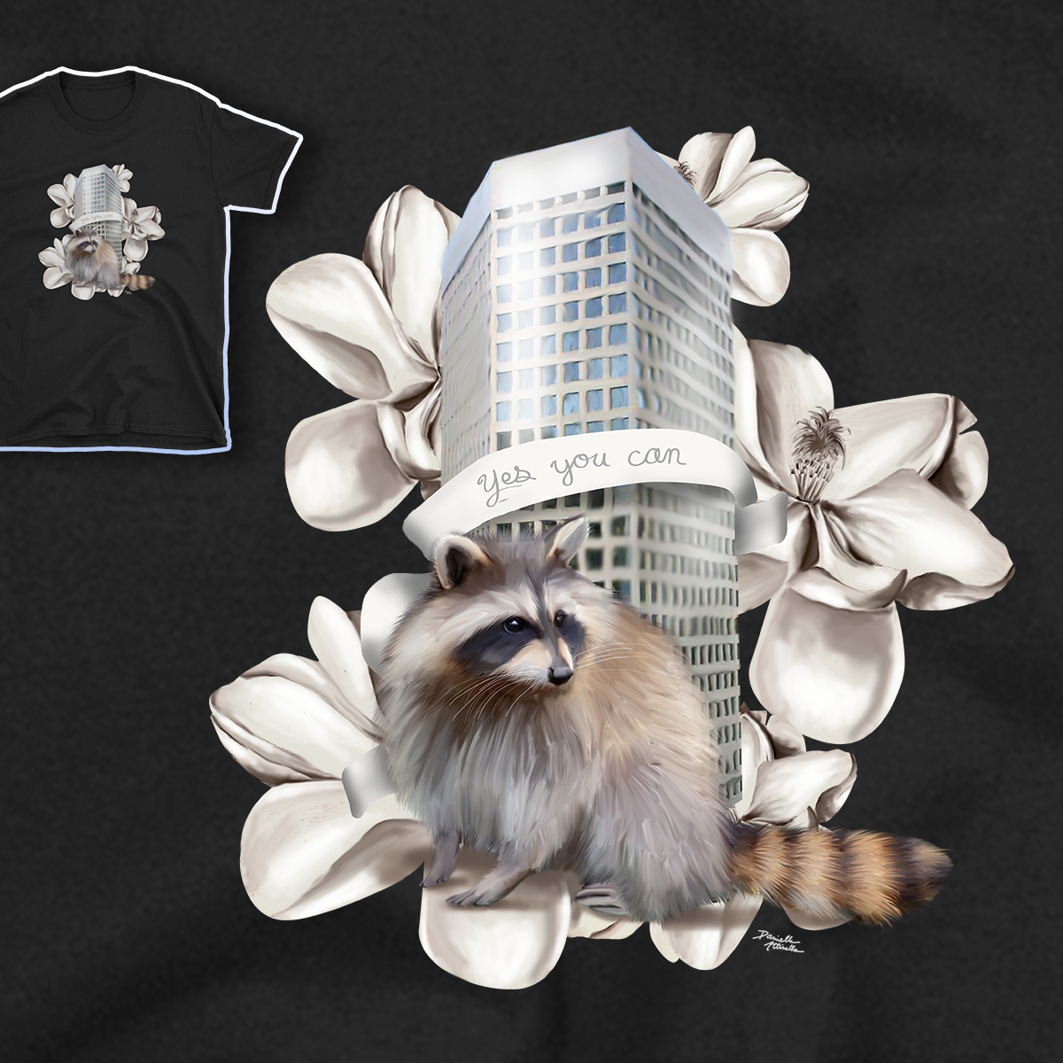 MPR Raccoon T-shirt listed  on my shop