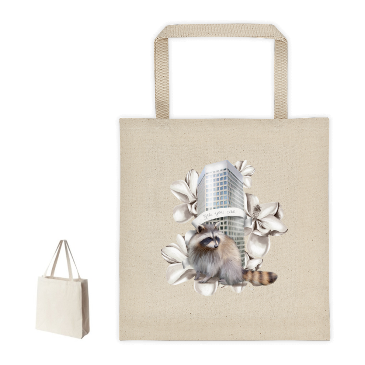 MPR Raccoon Tote Bag  listed on my shop.