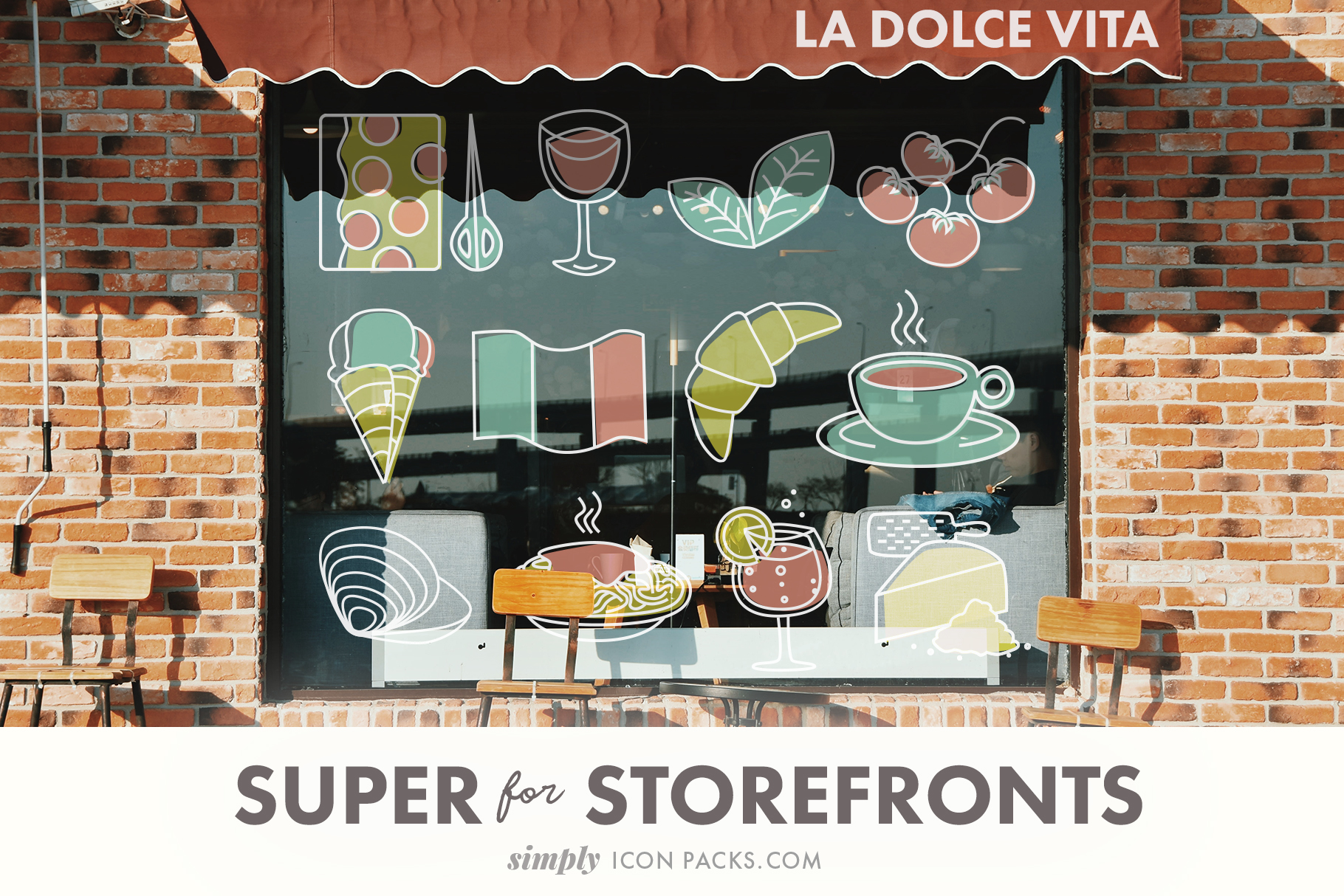 Italian Food and Drink  (SimplyIconPacks.com)