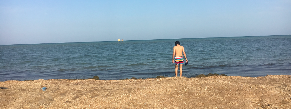 Caspian Sea in Azerbaijan
