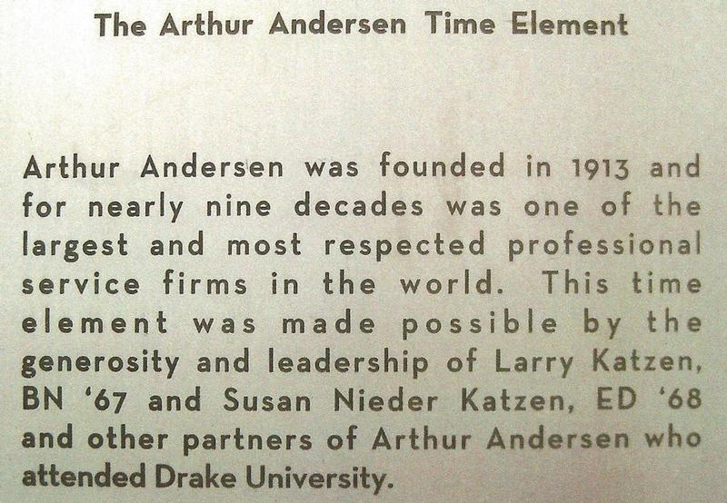 The Arthur Andersen Time Element