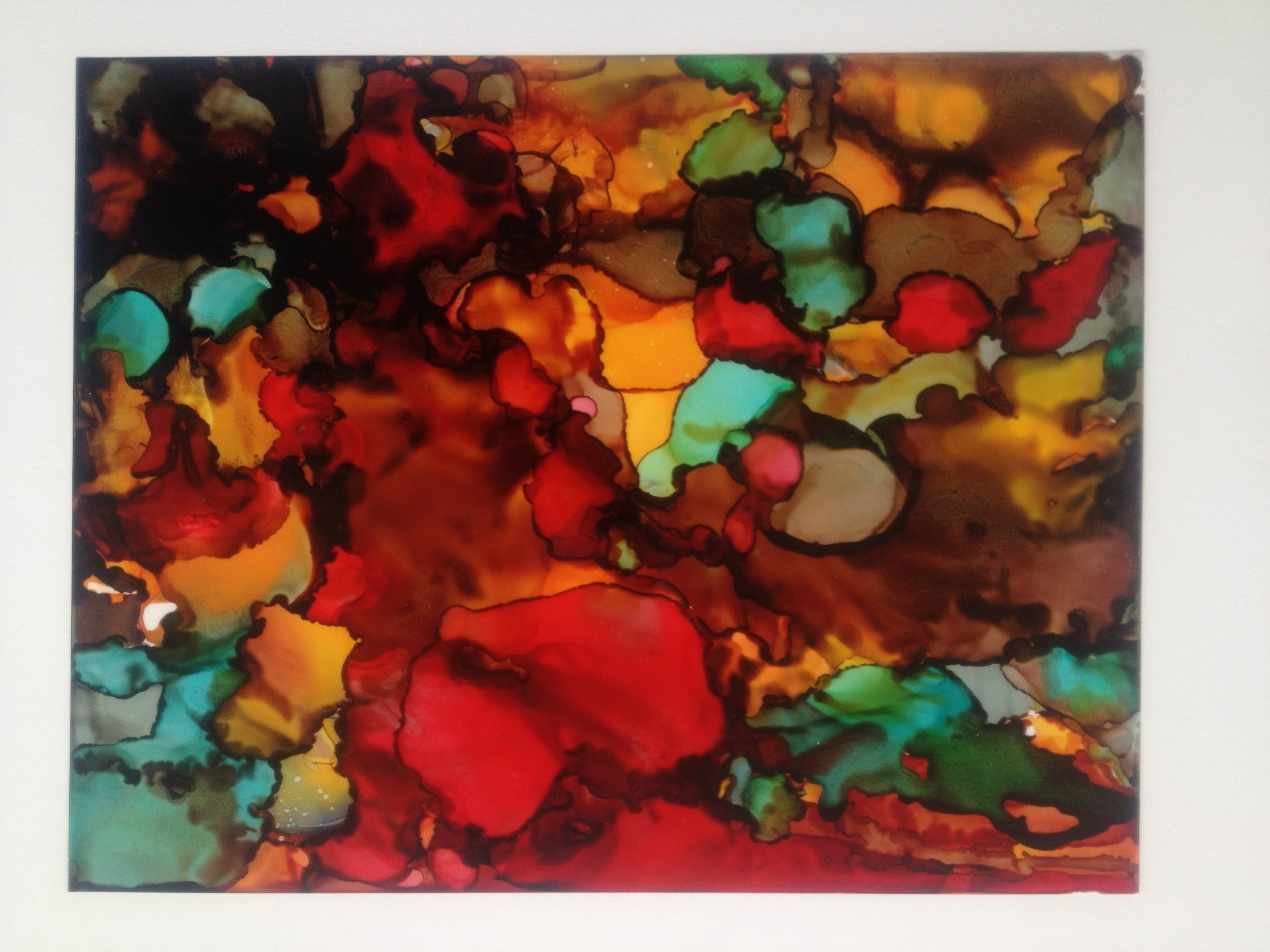 Alcohol ink on yupo paper. SOLD by Jennifer Stone at Jennifer Stone Artwork