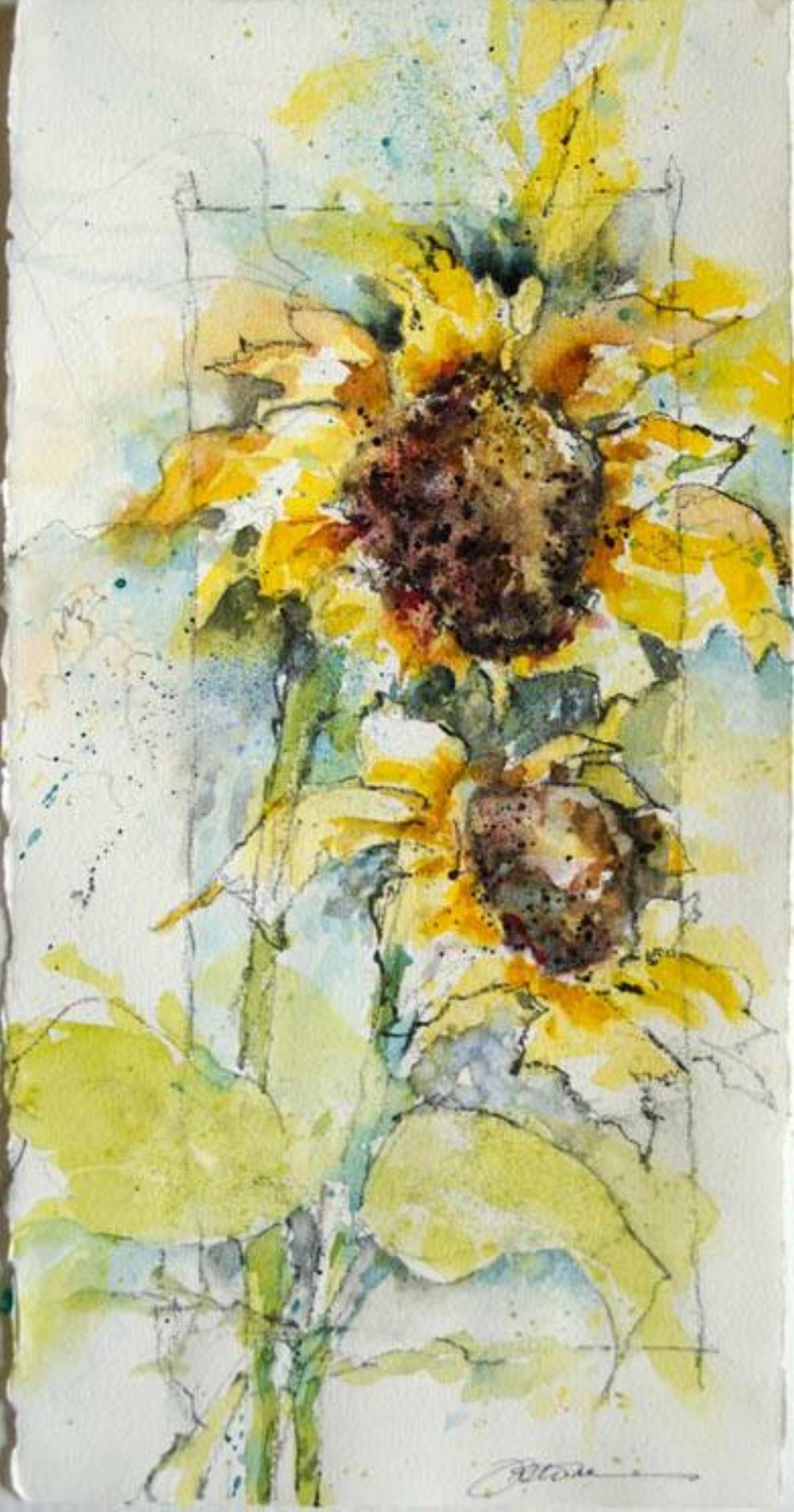 Watercolor on paper. SOLD by Jennifer Stone at Jennifer Stone Artwork