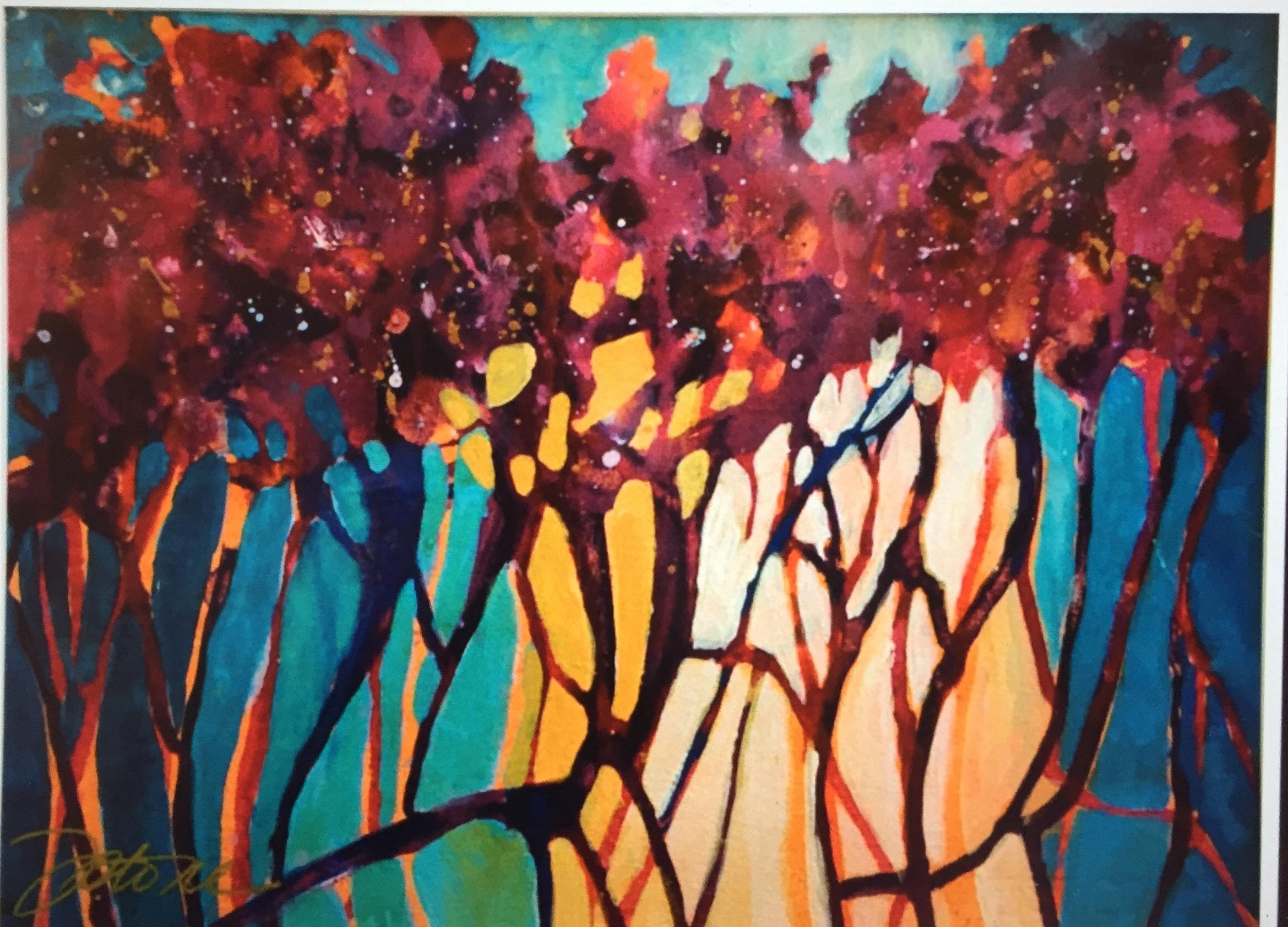 SUNSET DRIP TREES II
