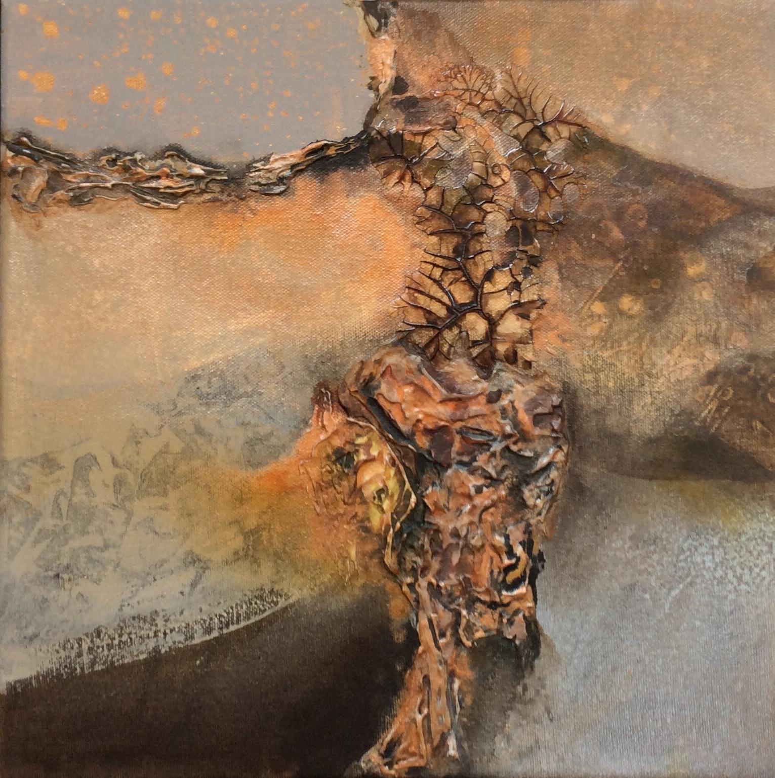 Mixed media on 12 x 12 canvas. SOLD by Jennifer Stone at Jennifer Stone Artwork