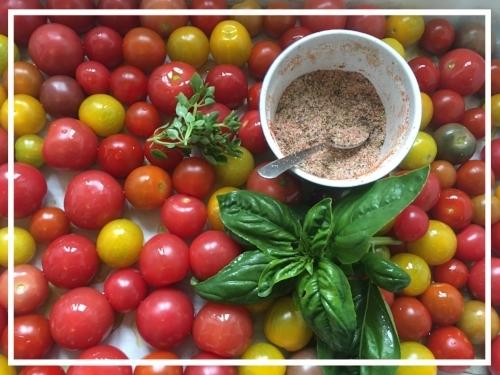 Cherry Tomato & Garlic Scapes Pasta with Meatballs