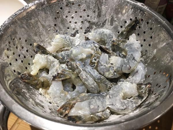 Shrimp & flour