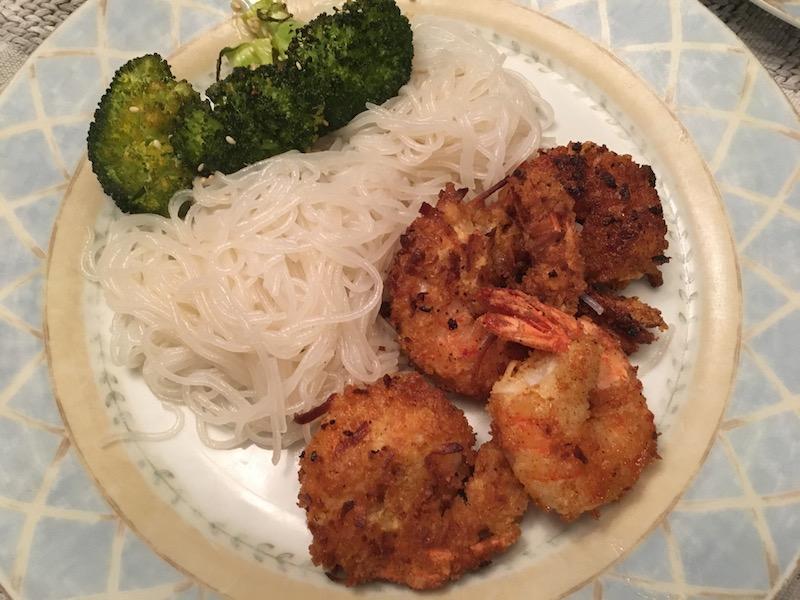 Serving Coconut Shrimp