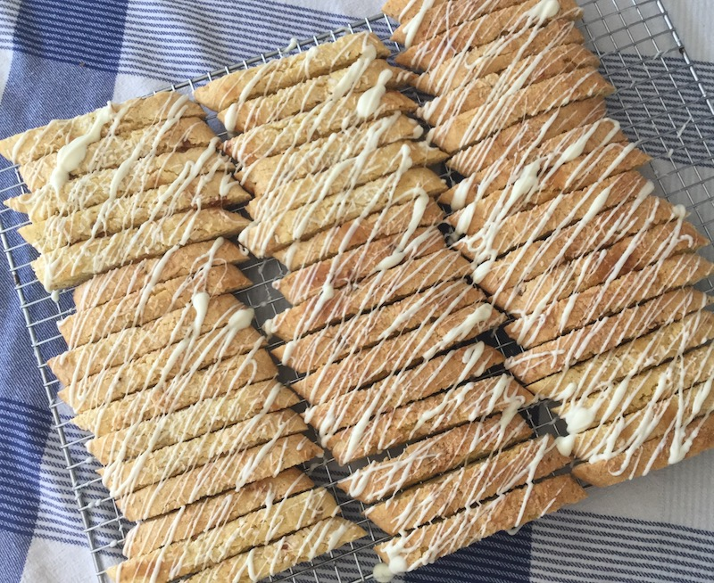 Candied Pineapple Biscotti with Lime & Coconut