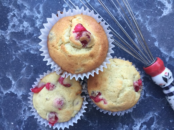 Cranberry & Cream Cheese Muffins with Orange