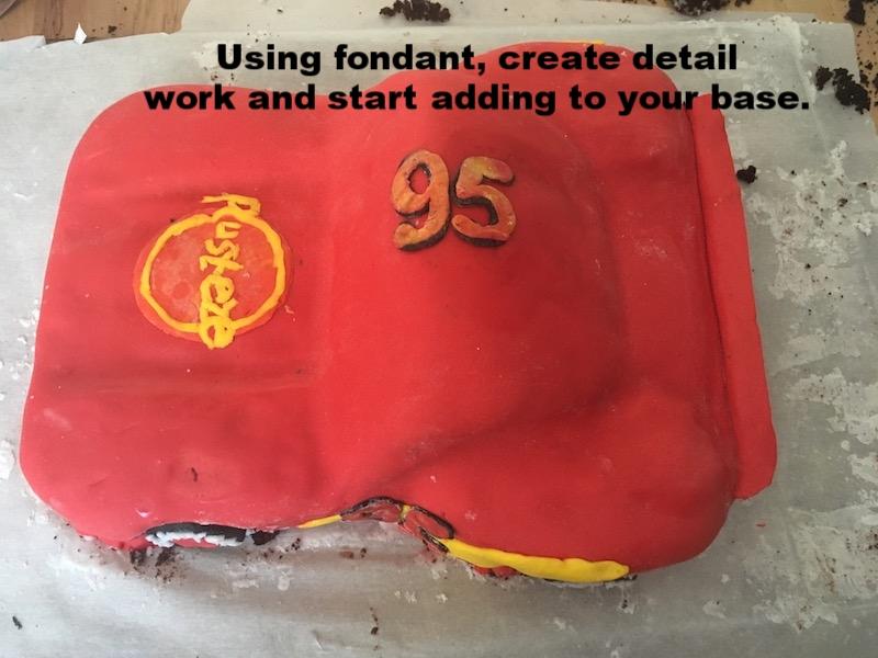 How-to Lightning McQueen Cake