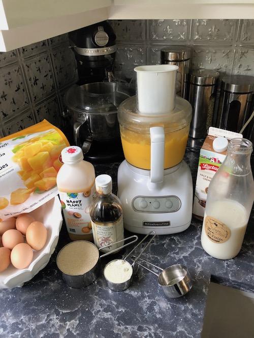 mango gelato ingredients