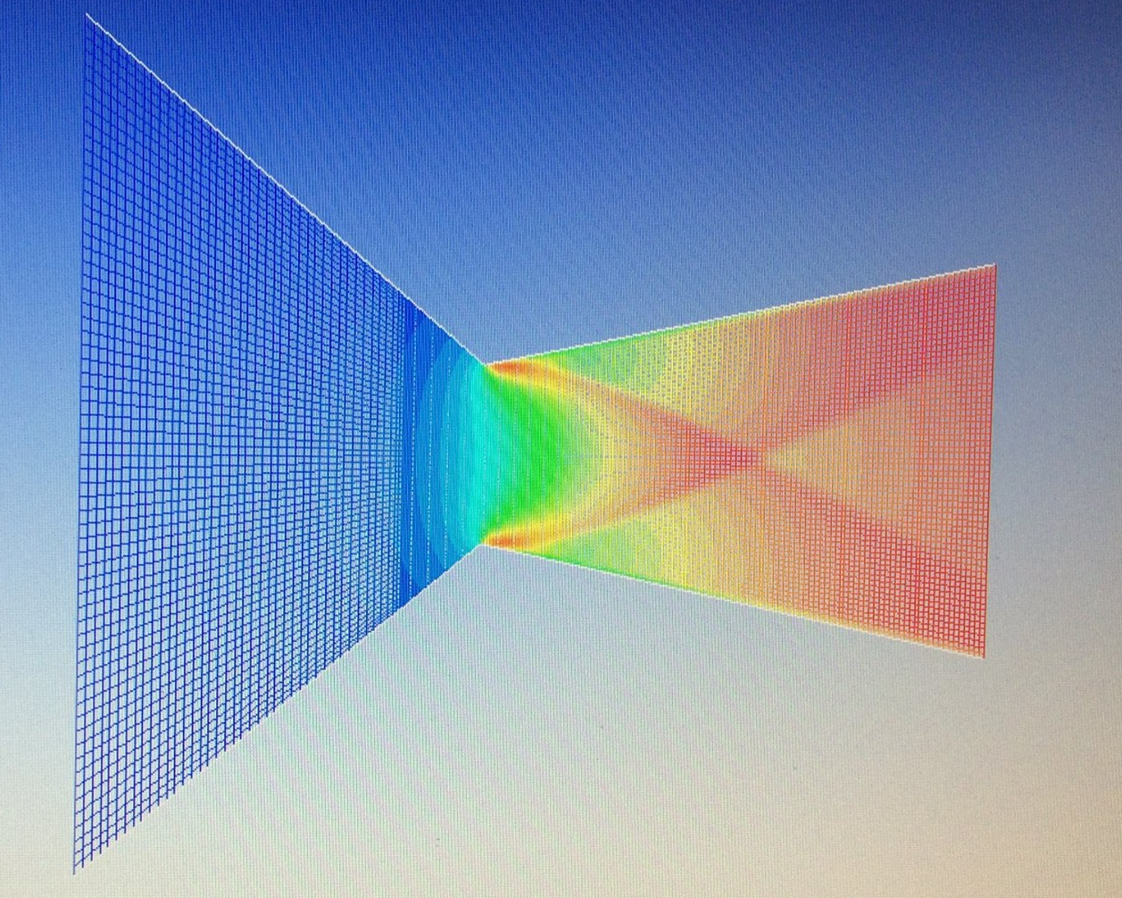 A mach number simulation through a variation of the Mark I nozzle