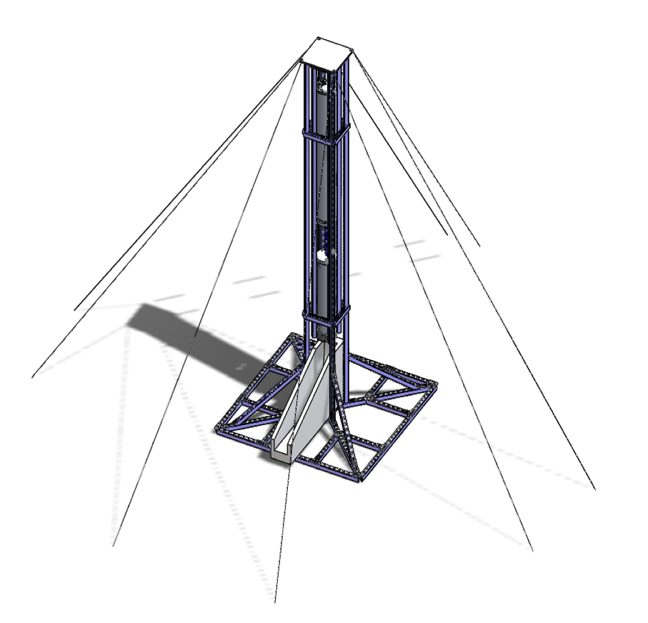 SolidWorks assembly of the full Titan engine and test stand