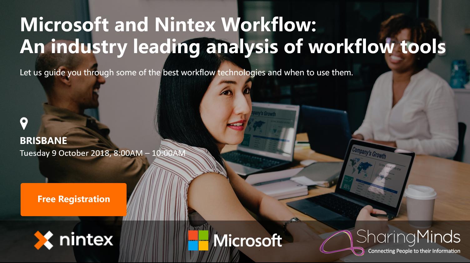 Nintex Sharing Minds Microsoft Breakfast - Brisbane