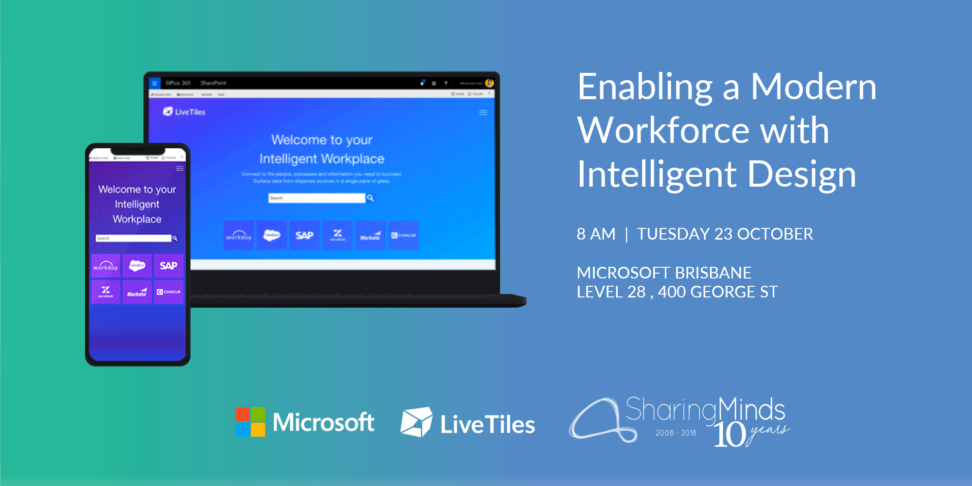 LiveTiles Microsoft Sharing Minds - Breakfast event 23 Oct 2018