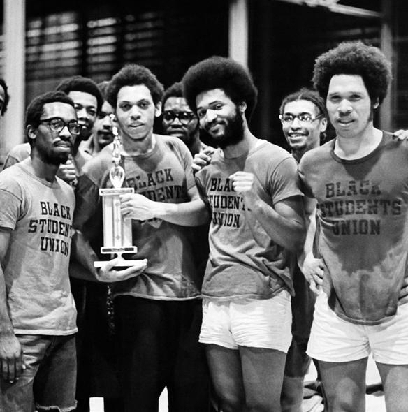 Black Students' Union Intramural Basketball Team the year the BSU was established, 1968.